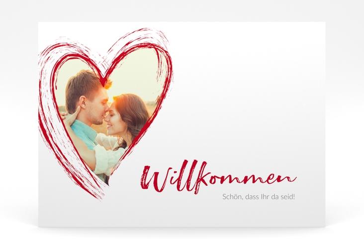 """Willkommensschild Poster """"Liebe"""" 70 x 50 cm Poster rot"""