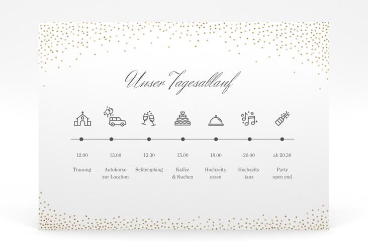 """Tagesablauf Poster Hochzeit """"Glitter"""" 70 x 50 cm Poster weiss"""