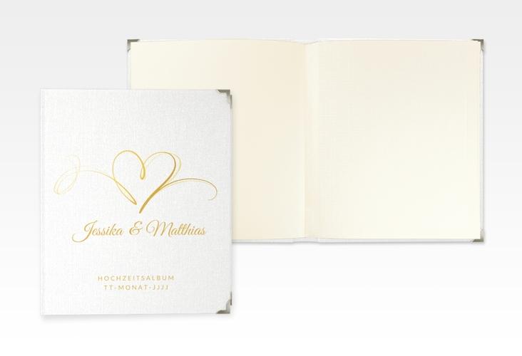 """Hochzeitsalbum """"Envie"""" 21 x 25 cm gold"""