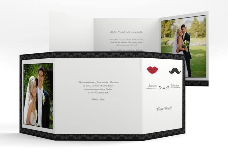 """Dankeskarte Hochzeit """"Montpellier"""" Quadr. Karte doppelt"""