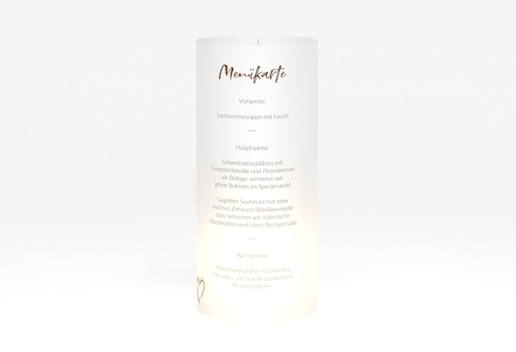 """Windlicht Menü Hochzeit """"Liebe"""" Windlicht braun"""