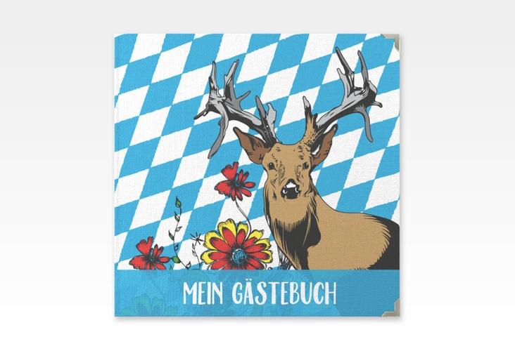 """Gästebuch Selection Geburtstag """"Platzhirsch"""" Leinen-Hardcover blau"""