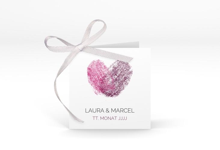 """Geschenkanhänger Hochzeit """"Fingerprint"""" Geschenkanhänger 10er Set pink"""