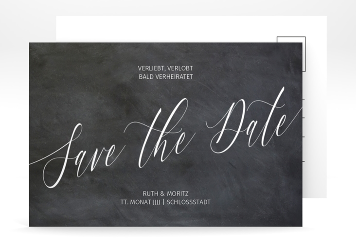 "Save the Date-Postkarte ""Chalkboard"" A6 Postkarte"