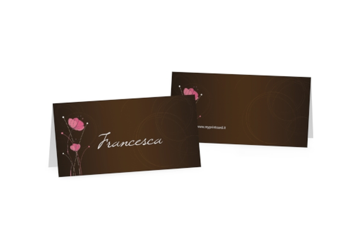 Segnaposti matrimonio collezione Madrid Tischkarten marrone