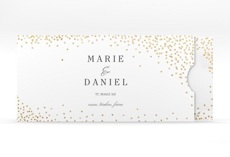 """Hochzeitseinladung """"Glitter"""" Einsteckkarte weiss"""