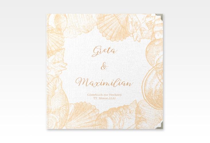 """Gästebuch Selection Hochzeit """"Muschelreich"""" Hardcover beige"""