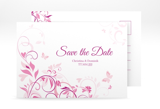 "Save the Date-Postkarte ""Lilly"" A6 Postkarte"