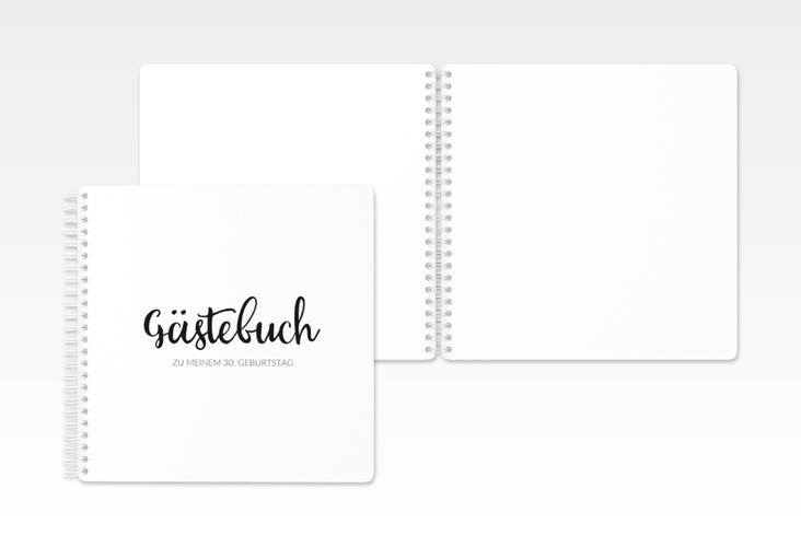 "Gästebuch Geburtstag ""Handwriting"" Ringbindung schwarz"