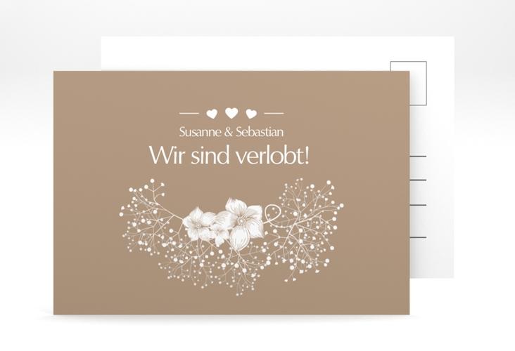 "Verlobungskarte Hochzeit ""Jena"" A6 Postkarte"