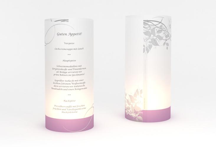 """Windlicht Menü Hochzeit """"Florenz"""" Windlicht flieder"""