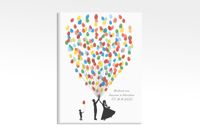 Wedding Tree – Ballons Beatrice Boy bis zu 80 Gäste 30x40 cm 30 x 40 cm