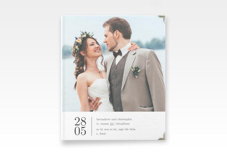 """Hochzeitsalbum """"Minimal"""" 21 x 25 cm"""