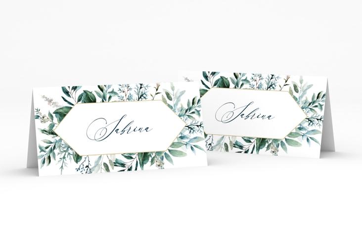"""Tischkarte Hochzeit """"Lumiere"""" Tischkarten weiss"""