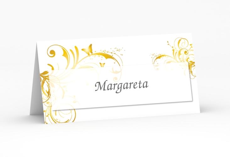 """Tischkarte Hochzeit """"Palma"""" Tischkarten gold"""
