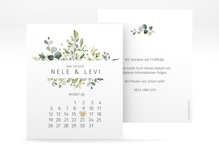 "Save the Date-Kalenderblatt ""Enchanting"" Kalenderblatt-Karte weiss"