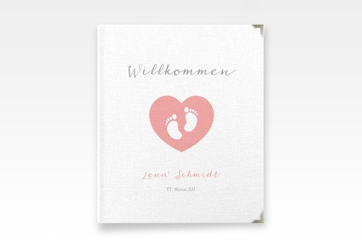 """Baby Fotoalbum """"Littlefoot"""" 21 x 25 cm rosa"""