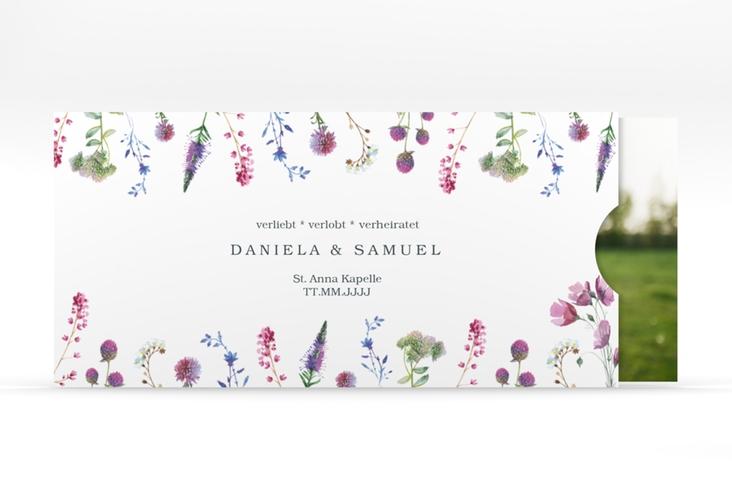 """Hochzeitseinladung """"Wildblumen"""" Einsteckkarte"""