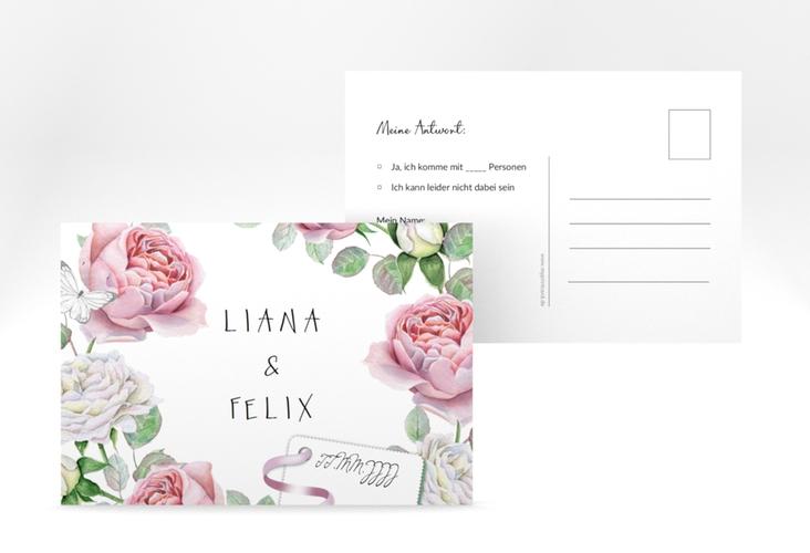 """Antwortkarte Hochzeit """"Primavera"""" A6 Postkarte"""