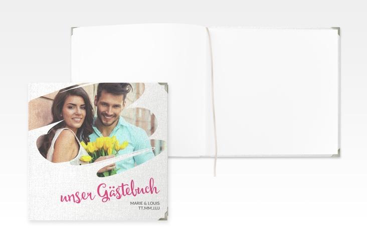 """Gästebuch Selection Hochzeit """"Felice"""" Leinen-Hardcover"""