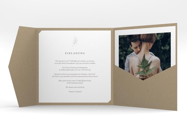 """Hochzeitseinladung """"Ivy"""" Pocketfold"""