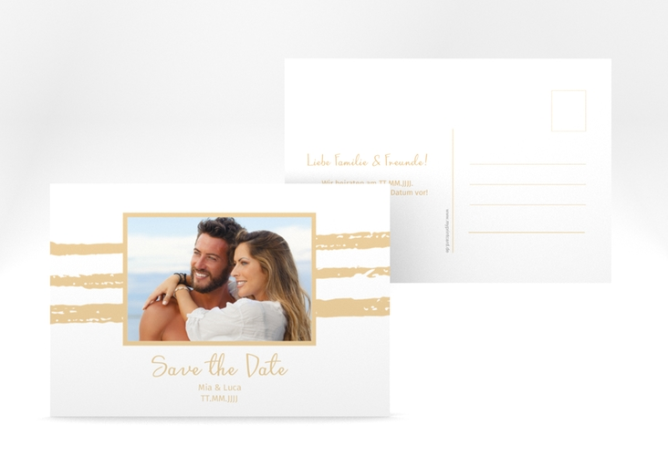 "Save the Date-Postkarte ""Mare"" A6 Postkarte beige"