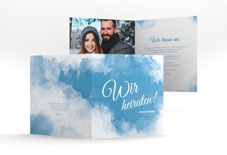 """Hochzeitseinladung """"Frozen"""" Quadratische Klappkarte"""