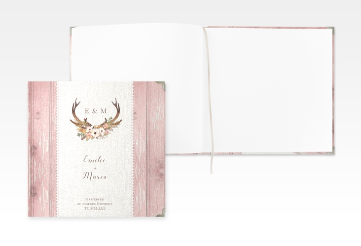 "Gästebuch Selection Hochzeit ""Heimatjuwel"" Hardcover rosa"