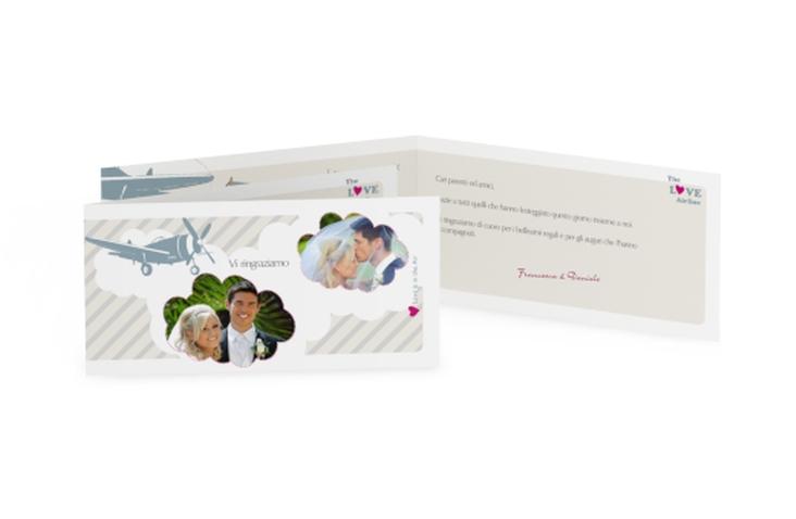 Ringraziamenti matrimonio collezione Teneriffa DIN lang Klappkarte