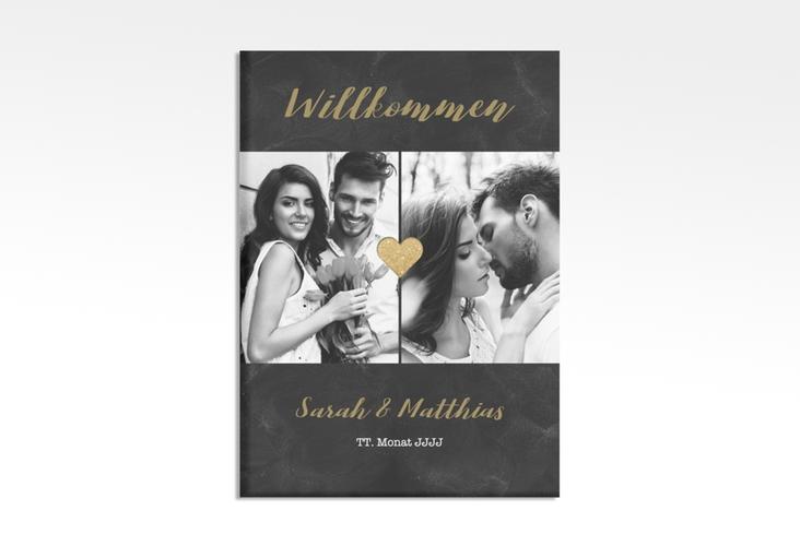 """Willkommensschild Hochzeit """"Sparkly"""" 50 x 70 cm Leinwand"""