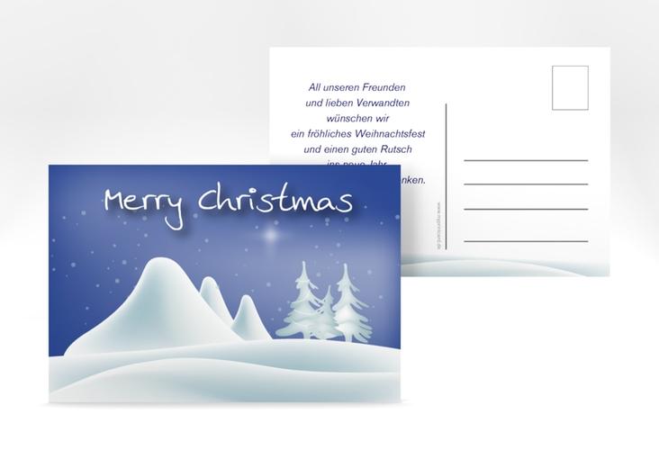 "Weihnachtskarte ""Freeze"" A6 Postkarte"