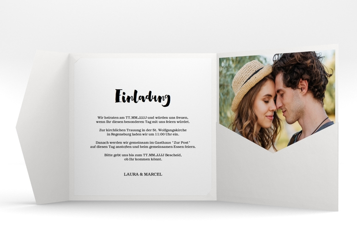 """Hochzeitseinladung """"Mirage"""" Pocketfold"""