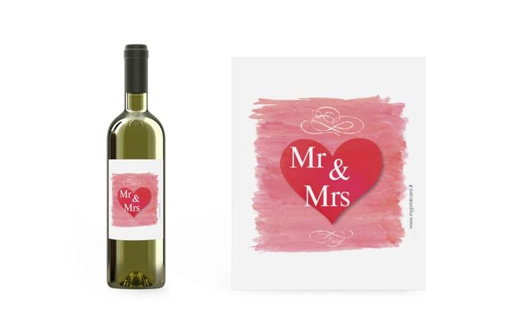 Etichette vino matrimonio collezione Fuerteventura Etikett Weinflasche 4er Set