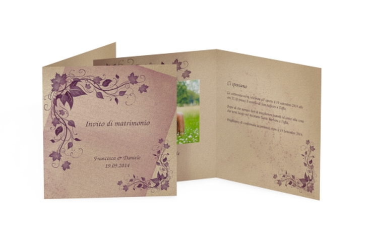 Inviti matrimonio collezione Como Quadratische Klappkarte