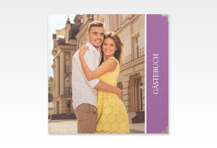 "Gästebuch Selection Hochzeit ""Classic"" Leinen-Hardcover lila"