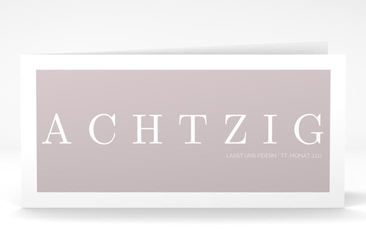 """Einladungskarte """"Schlicht"""" DIN lang Klappkarte"""