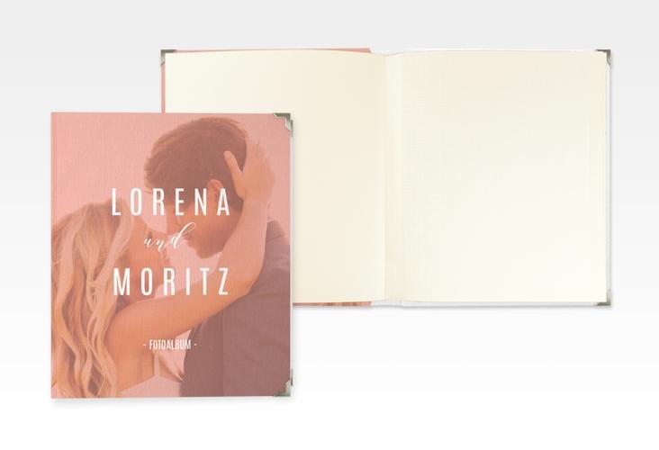"""Hochzeitsalbum """"Memory"""" 21 x 25 cm orange"""