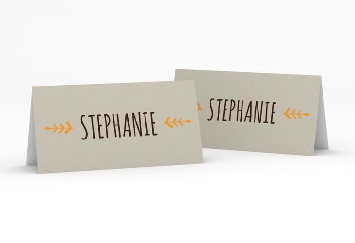 """Tischkarte Hochzeit """"Eden"""" Tischkarten orange"""