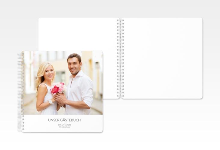 """Gästebuch Hochzeit """"Vista"""" Ringbindung weiss"""