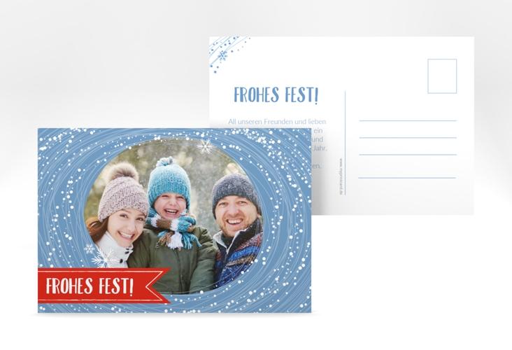 """Weihnachtskarte """"Flockentanz"""" A6 Postkarte"""