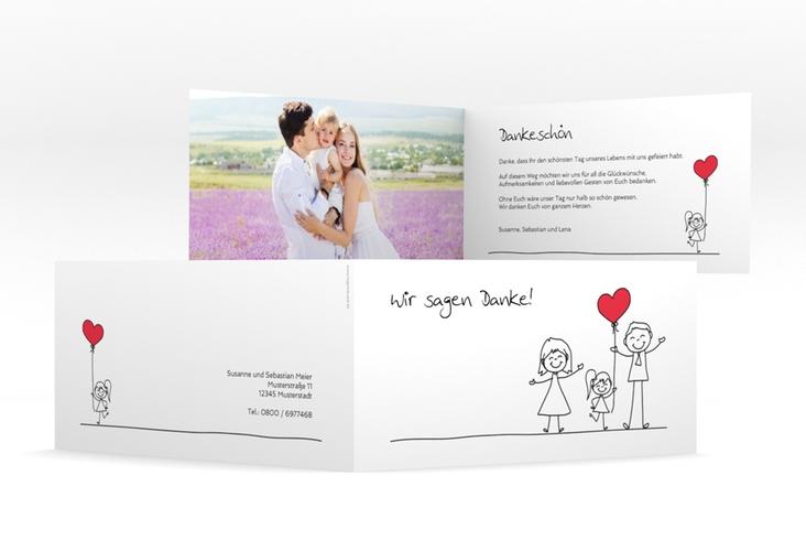 "Danksagungskarte Hochzeit ""Familia"" DIN lang Klappkarte"