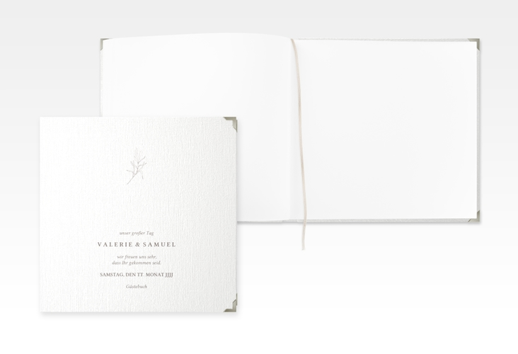 "Gästebuch Selection Hochzeit ""Ivy"" Leinen-Hardcover weiss"