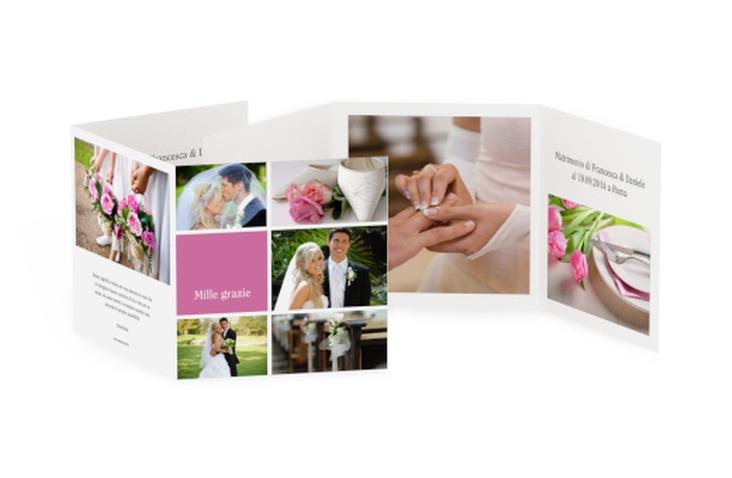 Ringraziamenti matrimonio collezione Nizza Quadr. Karte doppelt