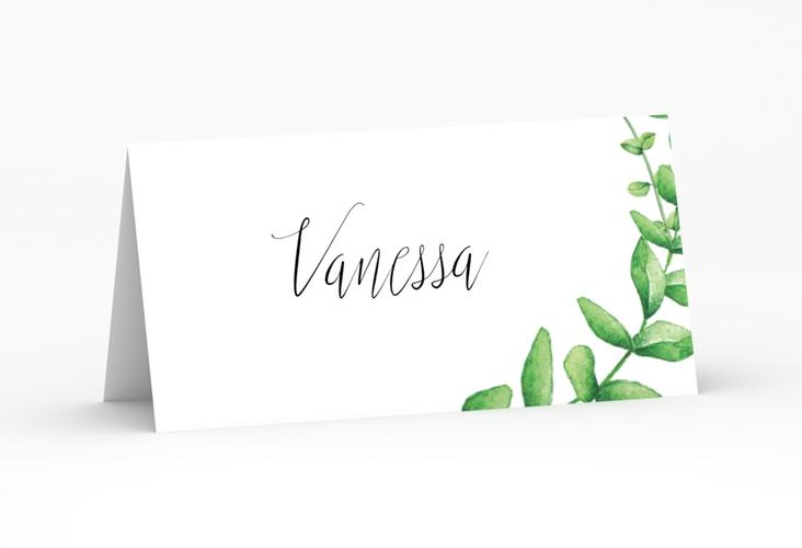 """Tischkarte Hochzeit """"Botanic"""" Tischkarten weiss"""