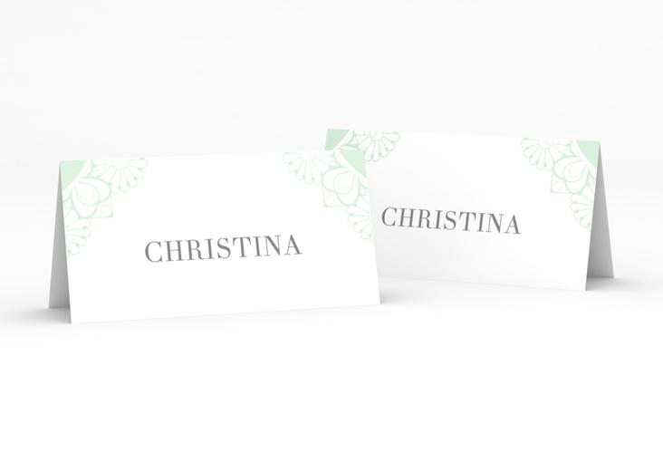 """Tischkarte Hochzeit """"Nostalgie"""" Tischkarten mint"""