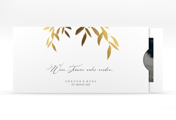 """Hochzeitseinladung """"Demure"""" Einsteckkarte weiss"""