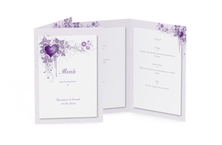 Menù matrimonio collezione Trieste DIN A5 geklappt