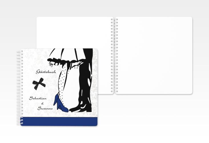 "Gästebuch Hochzeit ""Straßburg"" Ringbindung blau"