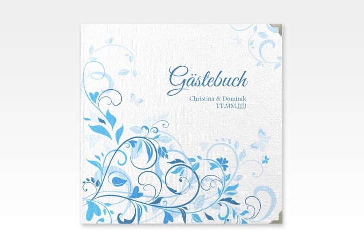"""Gästebuch Selection Hochzeit """"Lilly"""" Leinen-Hardcover blau"""