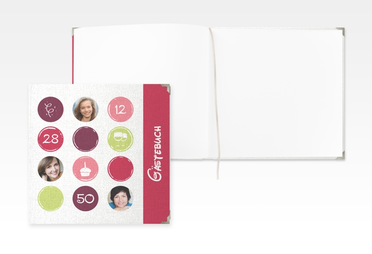 "Gästebuch Selection Geburtstag ""Circles"" Hardcover pink"